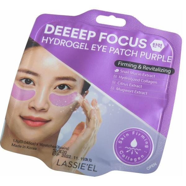Hidrogel maska za podočnjake  ljubičasta protiv bora energija i balans Deeeep Focus Lassie el 16 kom 8 parova