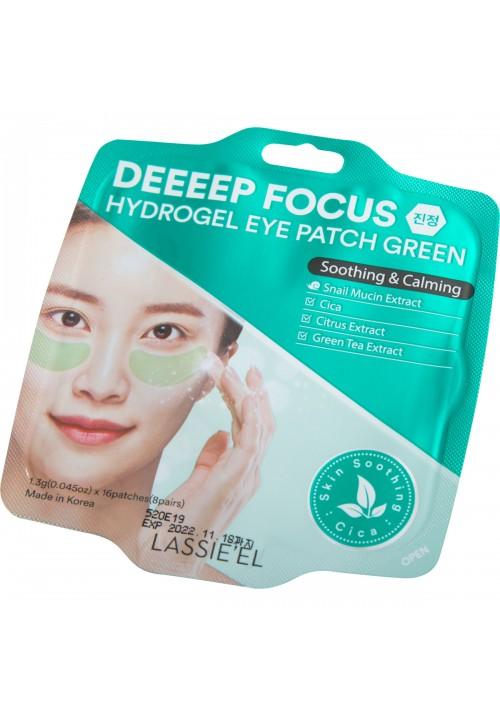 Hidrogel zelena maska za podočnjake umirujuća Deeeep Focus Lassie el 16kom 8 parova