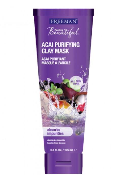 Maska za lice - asai bobice i glina