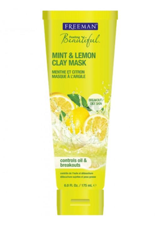 Glinena maska za lice limun menta