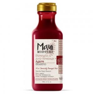 Maui Moisture Agava snaga i protiv-lomljenja šampon 385ml bez sulfata, bogat i kremast za hemijski oštećenu kosu za omekšavanje i oporavak