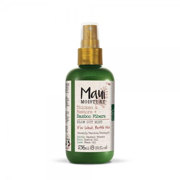 Maui Bambus gusta i obnovljena kosa sprej magla za omekšavanje, obnovu i jačanje slabe, suve, lomljive i oštećene kose bez silikona 236ml