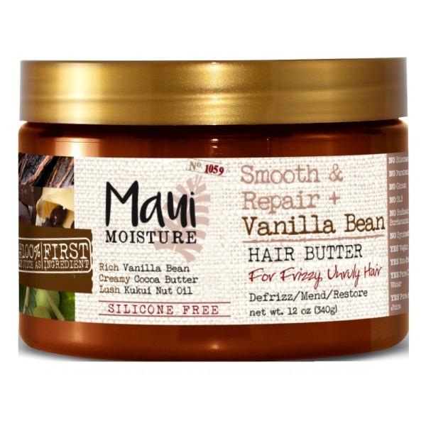 Maui Vanila maska za zamršenu i nemirnu kosu oporavlja, razmrsuje i oživljava 340g bez silikona