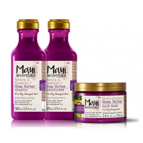 Maui Shea - ši maslac, kokosovo i makadamija ulje šampon, regenerator i maska za oštećenu suvu kosu