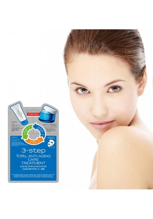 PUREDERM Total Anti-aging tretman protiv starenja i za podmlađivanje kože u 3 koraka