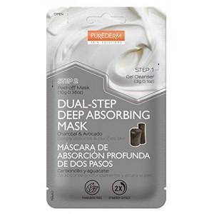 PUREDERM DVODELNA maska za dubinsko čišćenje pora sa aktivnim ugljem i avokadom