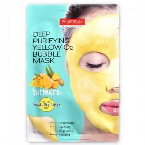 Purederm O2 penušava maska za lice sa kurkumom 25g
