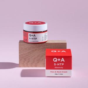 Q+A 5-HTP krema za vrat i lice 50g za elastičnost kože