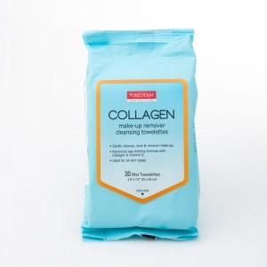 Maramice za skidanje šminke i čišćenje lica sa kolagenom  30 kom.