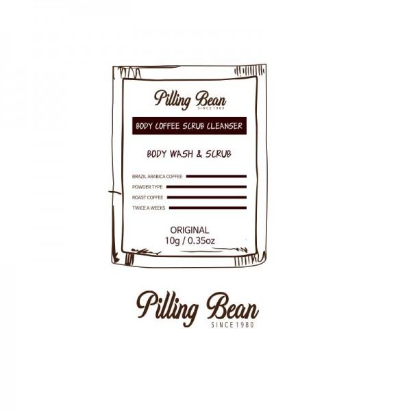 Pilling Bean piling za čišćenje i negu tela kafa